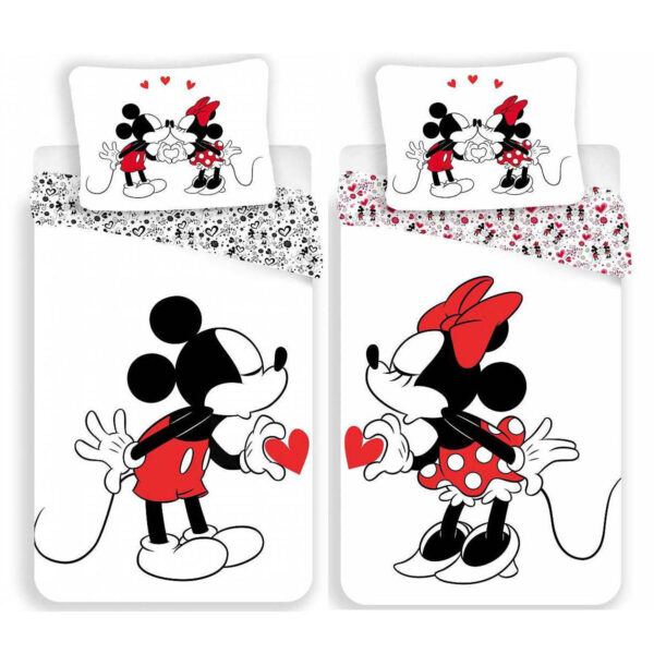 Bedset 2-delig Minnie & Mickey Mouse