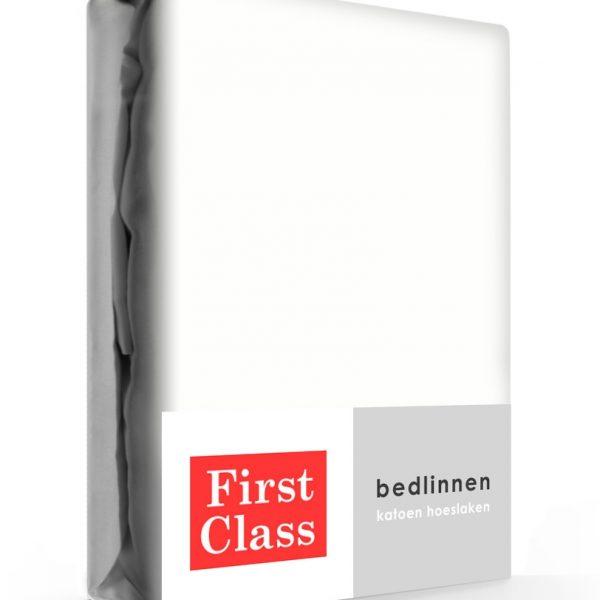 First Class Hoeslaken Katoen Wit 180 x 200 cm