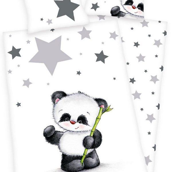 Baby Best Dekbedset Panda 100x135cm (Flanel)