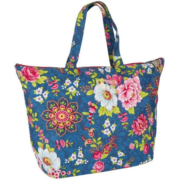 PiP Studio Beachbag Flowers In The Mix Blue