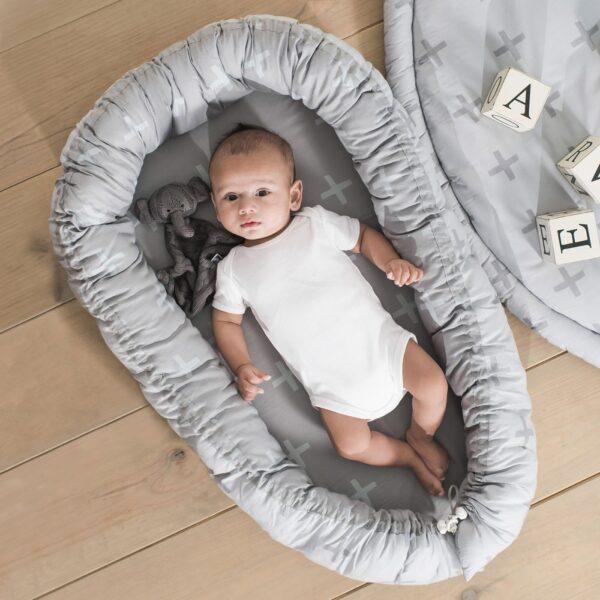 Jollein Babynest-Cocoon Plus Grey