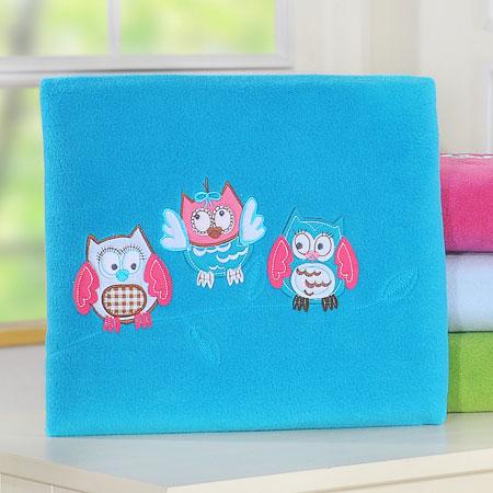 My Sweet Baby Deken 'Owls' Aqua