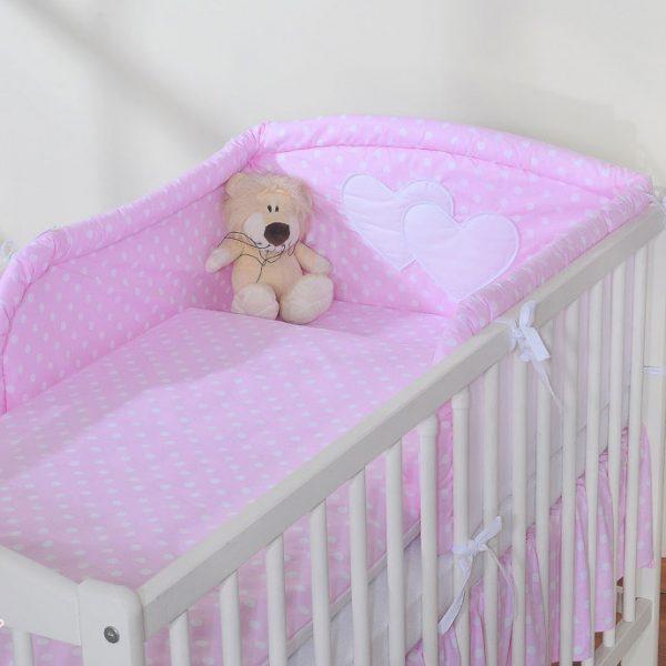My Sweet Baby Hoofdbeschermer 'Two Hearts' Roze/Stip