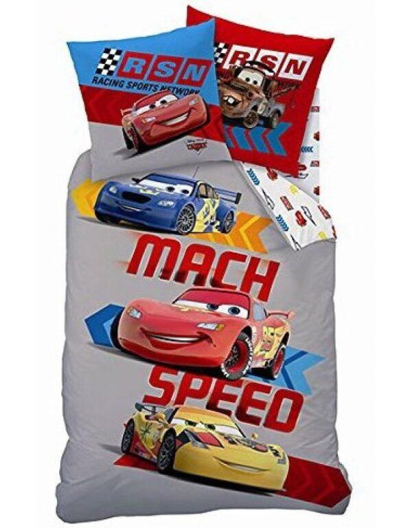 Disney Cars dekbedovertrek Mach Speed Grey