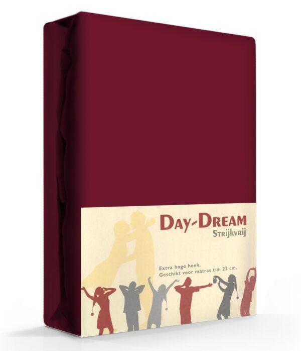 Day Dream Hoeslaken Katoen Aubergine 90 x 200 cm