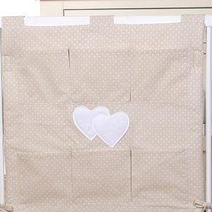 My Sweet Baby Opbergzak Two Hearts Dots/Beige