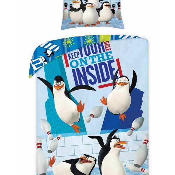 Kinderdekbedovertrek Madagascar Pinguïns