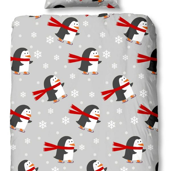 Dekbedovertrek Flanel Pinguins