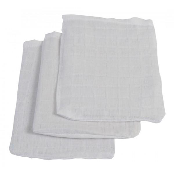 Jollein Hydrofiel washandjes wit (3stuks)