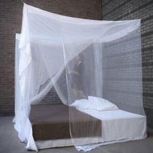 Klamboe Hemelbed 'Medium' Wit 2-deurs