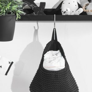 Jollein Wandzakje Heavy knit black