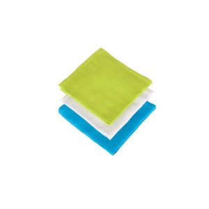 Jollein Monddoekje hydrofiel soft lime/aqua/wit (3stuks)