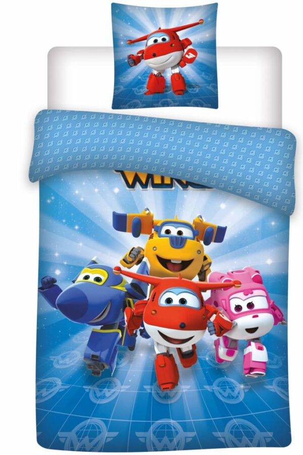 Super Wings Dekbedovertrek Team New!