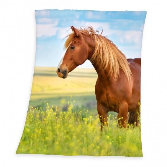 Paarden Fleece Deken 130 x 160 cm