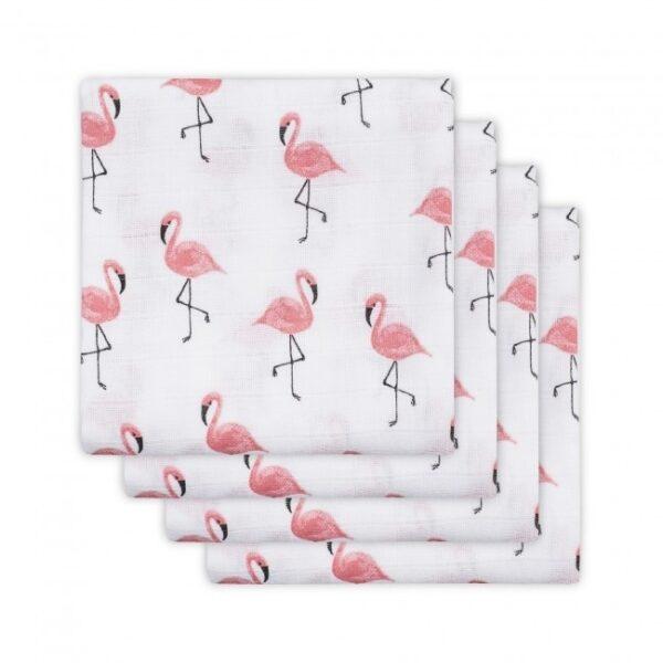 Jollein Hydrofiel Luier Flamingo (4 st.)