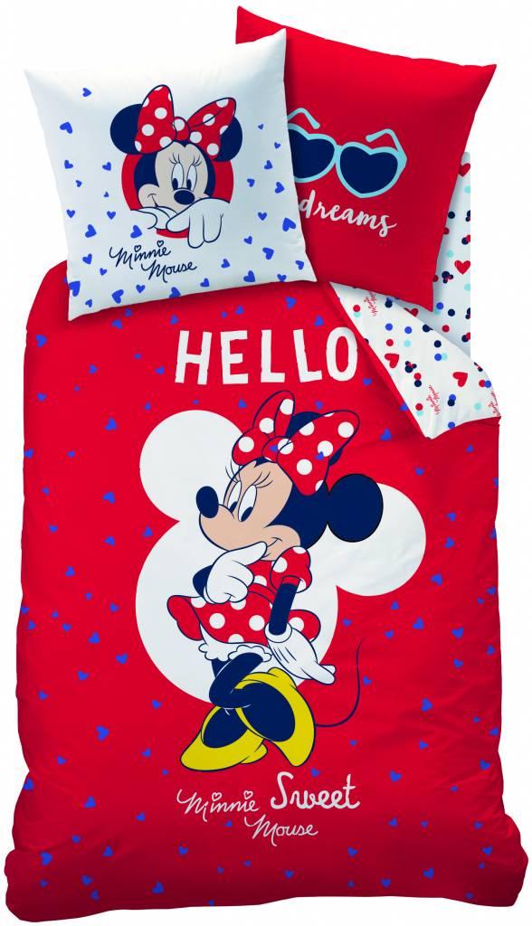 Disney Minnie dekbedovertrek Hello 140x200cm