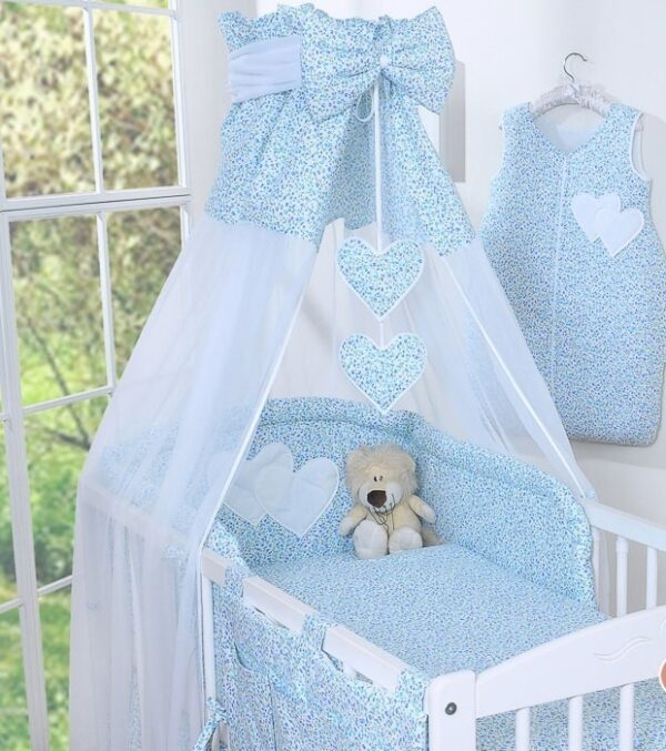 My Sweet Baby Hemeltje Strik Bloemen/Blauw