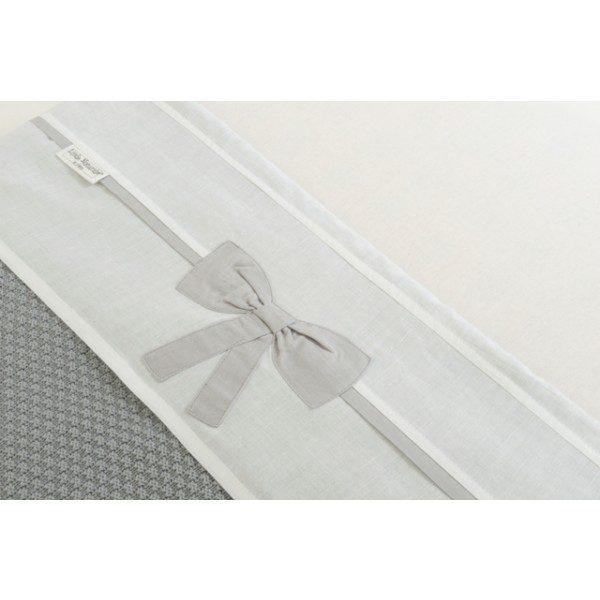 Jollein Laken LN 120x150cm Linen bow white/grey
