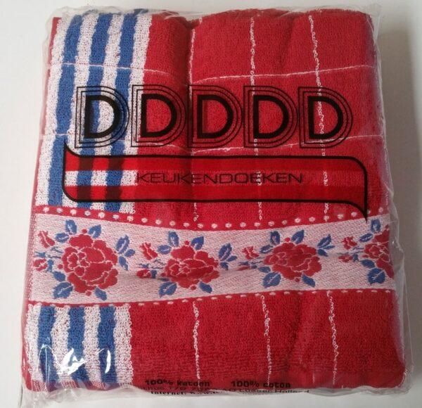 DDDDD Keukendoek Roosjes Red (6 stuks)