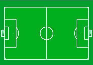 Vloerkleed Voetbal 95x133cm