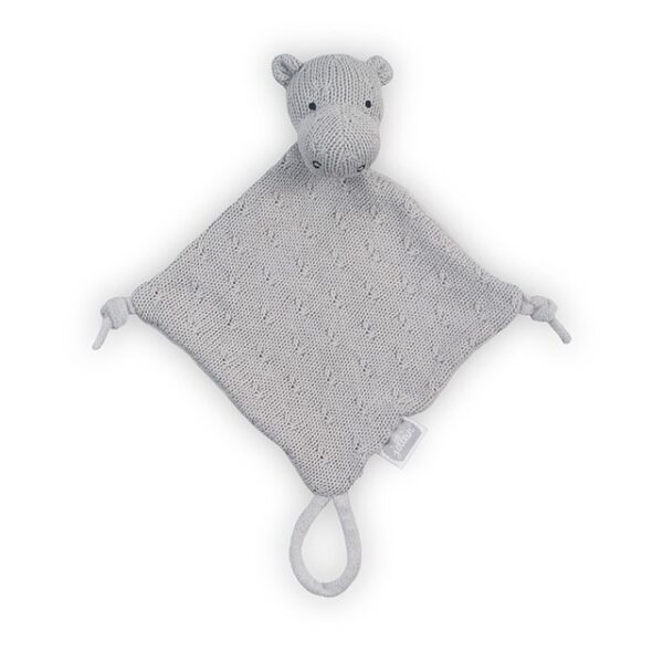 Jollein Knuffeldoekje Hippo Soft Knit Light Grey