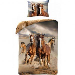 Animal Pictures Dekbedovertrek Paarden Multi