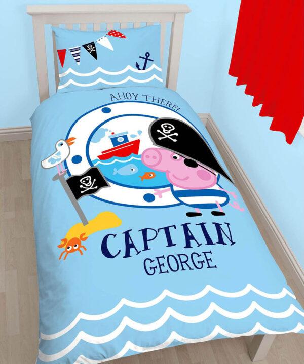 Captain George Peppa Pig Dekbedovertrek