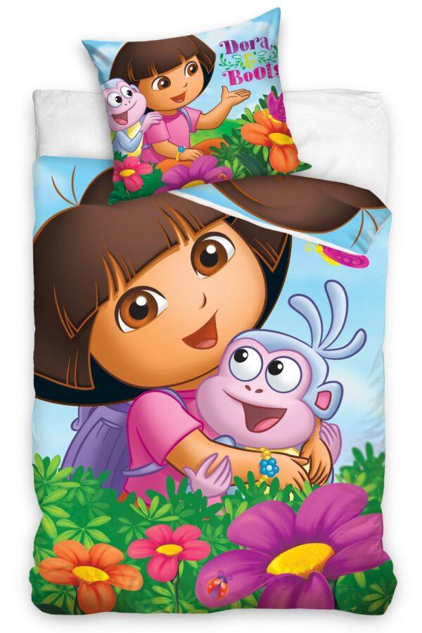 Dora & Boots Dekbedovertrek