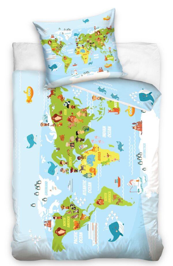 Dream Dekbedovertrek Worldmap