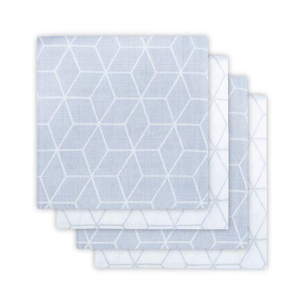 Jollein Hydrofiel Luier Graphic Grey (4 st.)