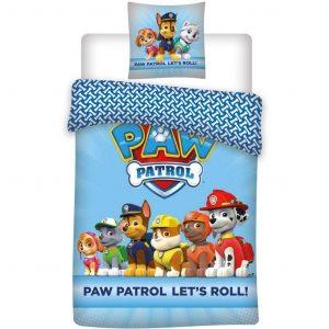 Paw Patrol dekbedovertrek Let's Roll Blauw