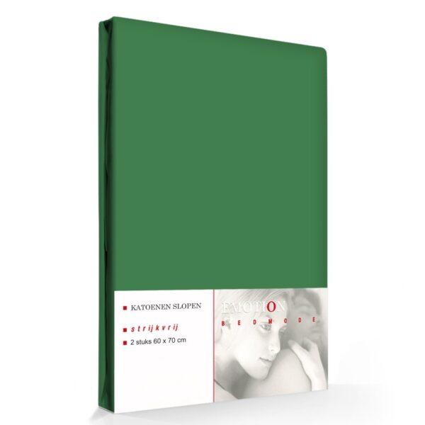 Kussensloop Jeans Stiksel Groen (2 stuks)