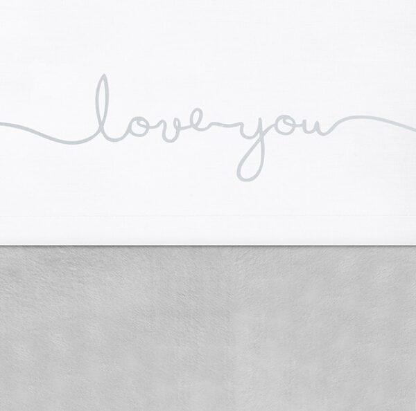 Jollein Laken 120x150cm Love You Grey