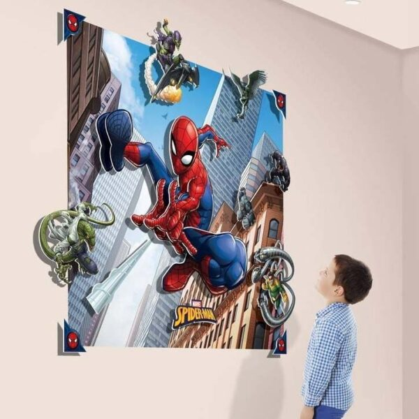 Spiderman Fotobehang 3D