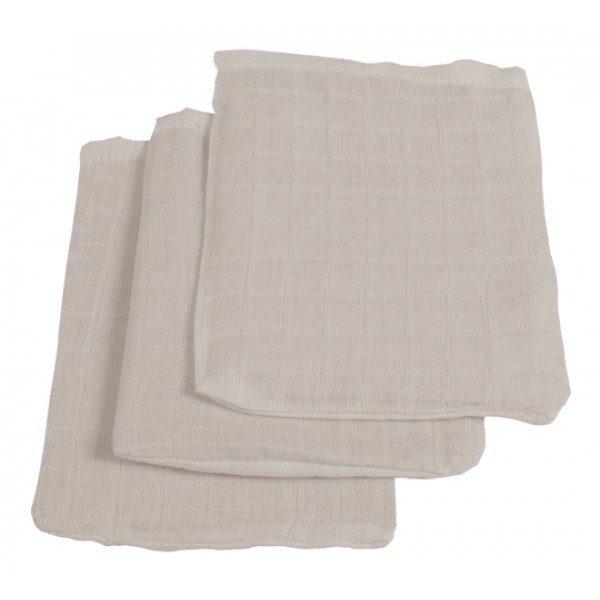 Jollein Hydrofiel washandje grijs (3pack)