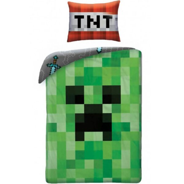 Minecraft Dekbedovertrek Creeper Groen