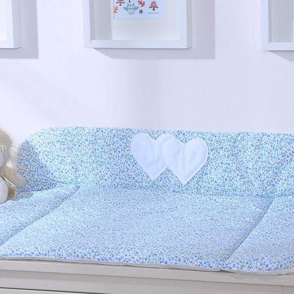 My Sweet Baby Aankleedkussen Two Hearts Bloem/Blauw