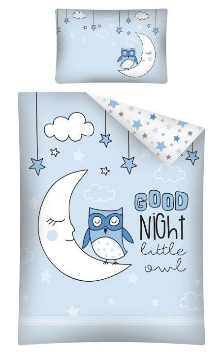 Dekbedhoes Goodnight Little Owl Blauw