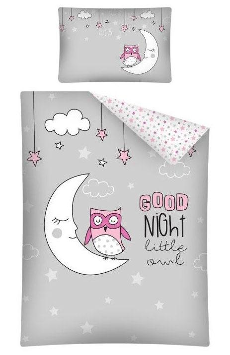 Dekbedhoes Goodnight Little Owl Grijs