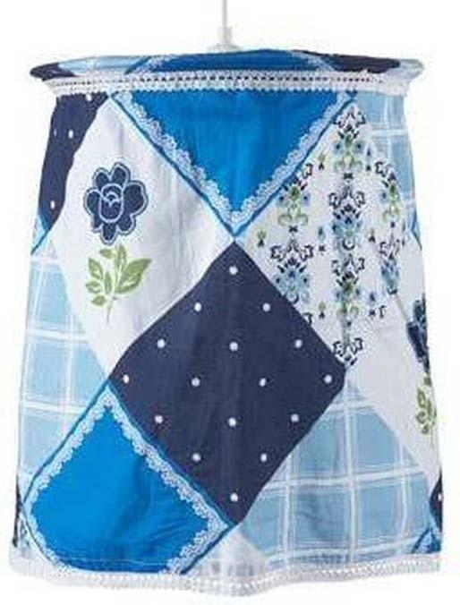 Jollein Flower patchwork - Lampenkap - (excl. pendel) - Blauw