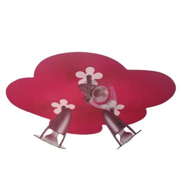 Plafondlamp Flower Fuchsia