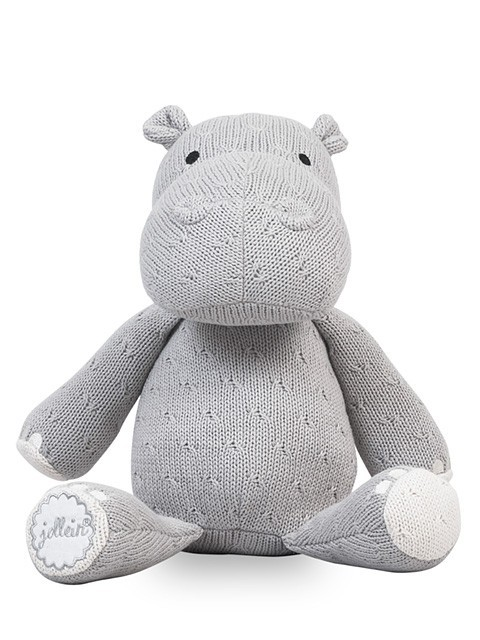 Jollein Knuffel Hippo Soft Knit Light Grey