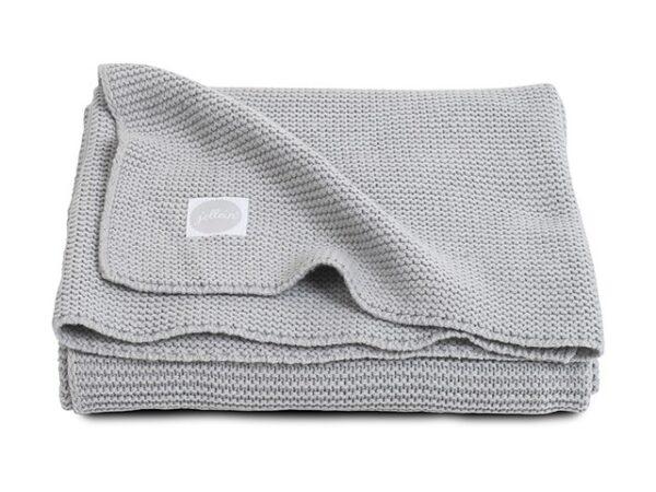 Jollein Deken 100x150cm Basic knit Light Grey