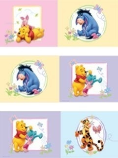 Winnie de Pooh & Friends Behangrand