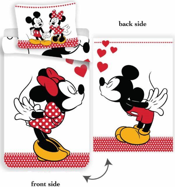 Disney Dekbedovertrek Minnie en Mickey Kissing