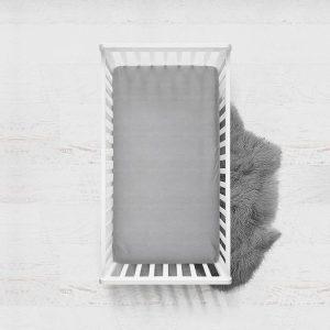 DreamHouse Bedding Verkoelend Hoeslaken Katoen - Antraciet 120 x 200