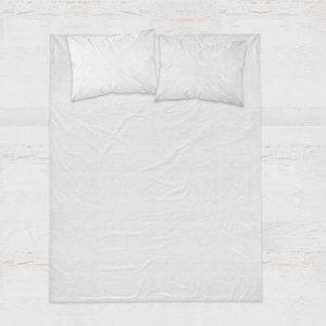 Sleeptime Zijde Geweven Uni - Rood 1-persoons (140 x 220 cm + 1 kussensloop) Dekbedovertrek