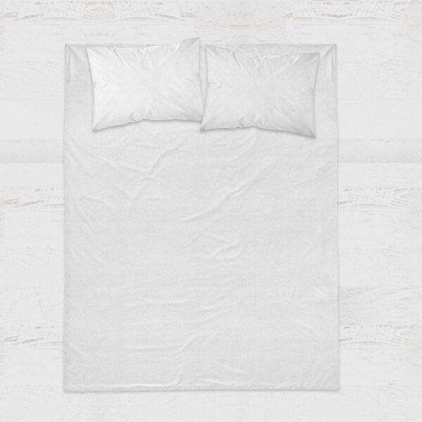 Presence Hoeslaken Percale Katoen - Wit 120 x 200 cm