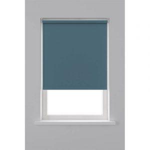 Decosol Rolgordijn Verduisterend - Grijs/Blauw 60 x 190 cm