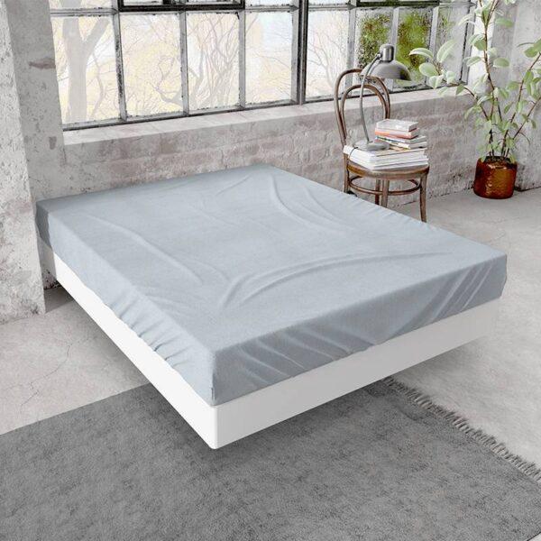 DreamHouse Bedding Flanellen Hoeslaken - Grijs 160 x 200/210 cm